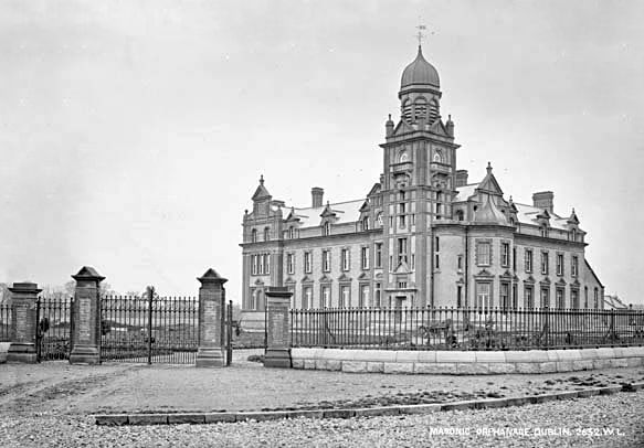 """The Masonic Female Orphans School, as it was originally known, now known as Bewley's Hotel, is situated on the corner of Merrion Road and Simmonscourt Road in Dublin's exclusive area of Ballsbridge. The foundation stone was laid by the Duke of Abercorn on St John's Day, 25th June, 1880 """"in the presence of a fashionable and extremely large assemblage.'' Two years after this foundation stone was laid, the construction of the new Masonic School was completed."""
