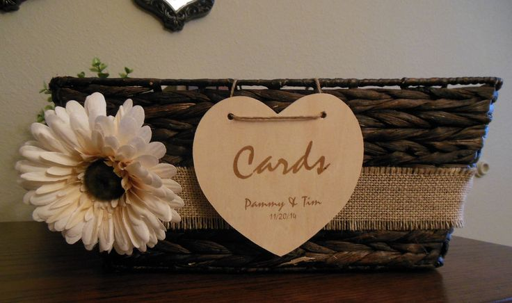Rustic Wedding Card Basket, Box, Card Holder- pretty and easy!!