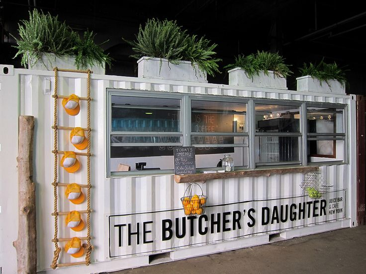 Very cool restaurant container---The Butcher's Daughter- www.kubikcontainers.com.au