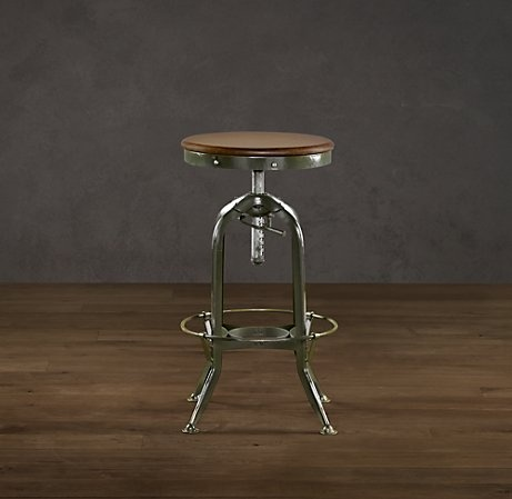 Vintage Toledo Barstool Antiqued Green From Kitchen To