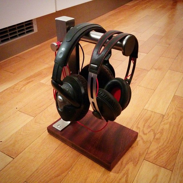 IKEA Toilet roll holder, GRUNDTAL, Stainless steel €5.90 Art no: 200.478.98 - Instead of using it in the bathroom, make it into a stand for your headphones by screwing it to a wooden stand!