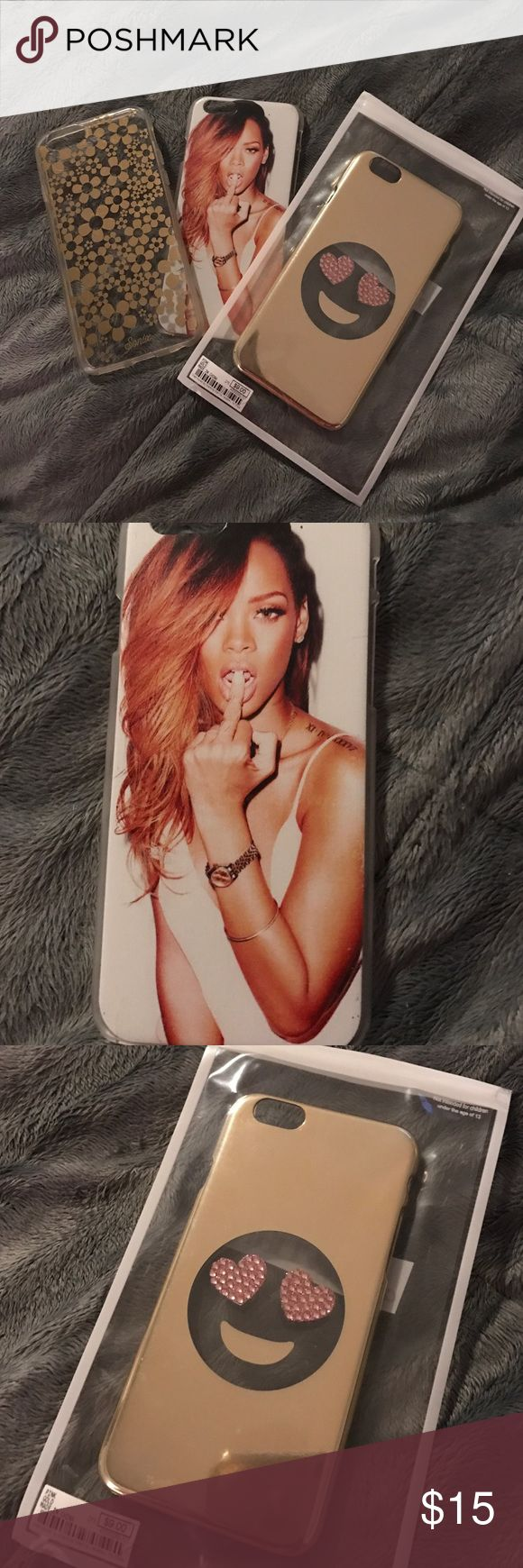 iPhone 6/6S Case Bundle Three on trend iPhone cases. Like new! Features cases from Charming Charlie, Sonix, and one Rihanna Case. Great DEAL! Charming Charlie Accessories Phone Cases
