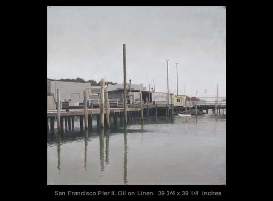 Xavier Rodés, San Francisco Pier II. See it at Axelle Fine Arts Galerie, 91 Newbury Street, Boston