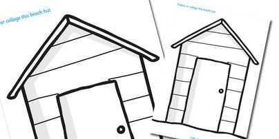 Beach Huts Seaside And Colouring Sheets On Pinterest