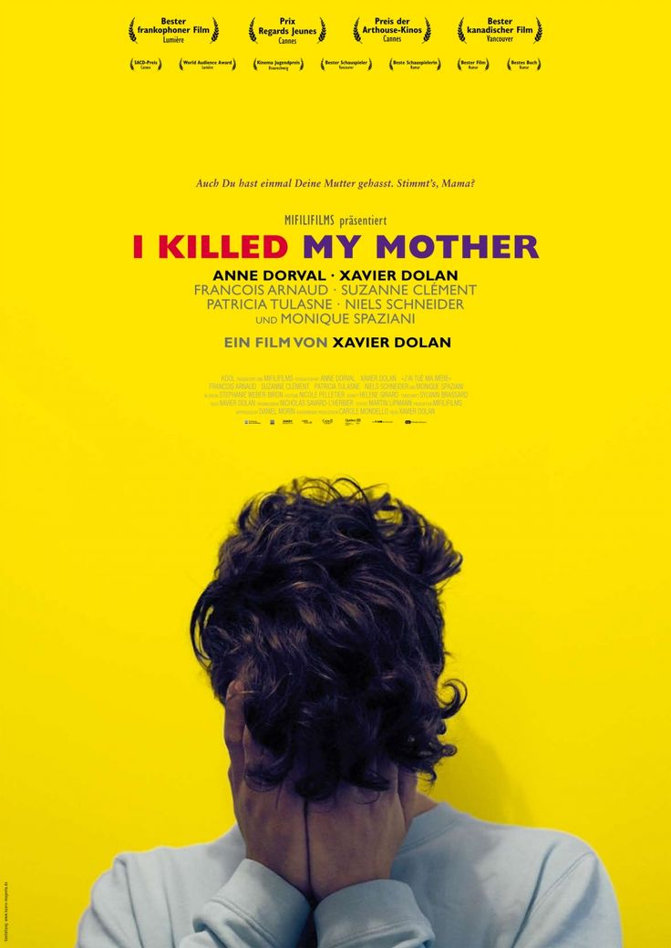 "I Killed My Mother, Xavier Dolan, Quebec,2009. Asfixiante historia de crispación adolescente y rabia familiar. Del mismo director de ""Tom en el granero""."