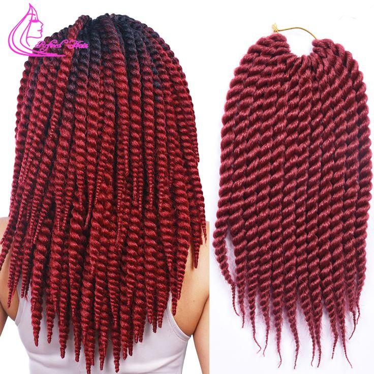 12 inch 12 wortels/pack Havana Mambo Twist Gehaakte Vlecht Haar Synthetische Kanekalon Marley Freetress Gehaakte Vlechten Hair extensions