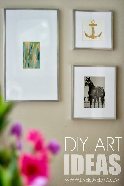 Amazing DIY art ideas! Great practical tips for making your own art, repurposing items from thrift stores, etc! LOVE this!