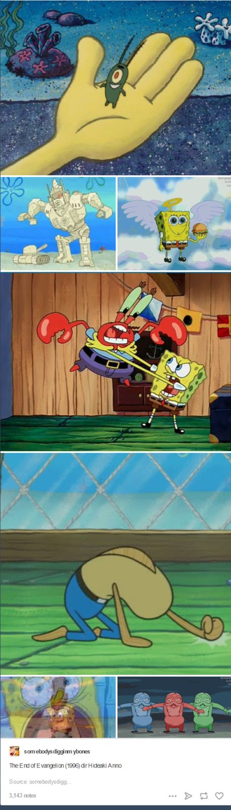 End of evangelion spongebob