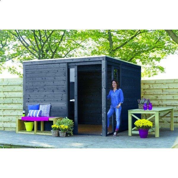Shed Plans - Abri de jardin en bois Kubus anthracite 10,1m2 - Now - plan de cabane de jardin