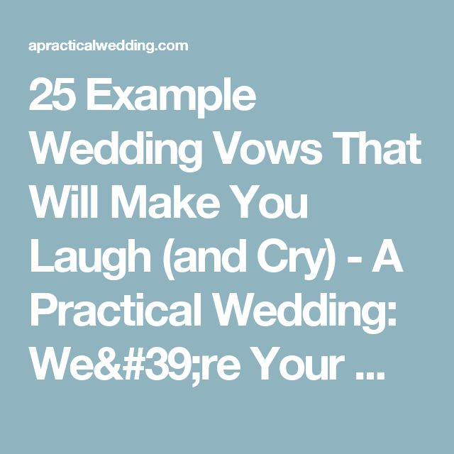 Help for writing wedding vows