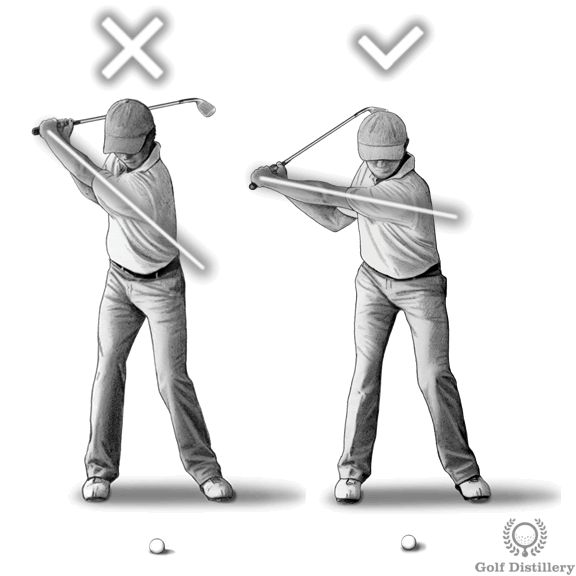 Focus on keeping your backswing compact - or in other words short - and execute it slowly. This is in contrast to over rotating your body and/or to do so in a rushed fashion.