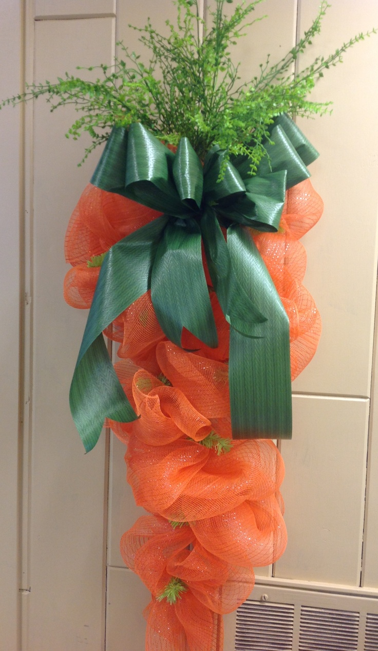 Geo Mesh Wreath Form - Geo mesh carrot for spring