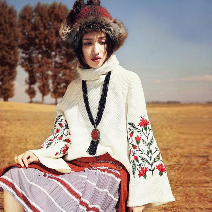 Aporia.as свободный пуловер   Aporia.as оригинальный женский свободный пуловер. Высокий воротник, длинные широкие рукава, цветная вышивка. Состав: 60% полиэстер, 35% хлопок, 5% спандекс. Цвета: белый, чёрный. Сезон: зима 2016. ☮️Цена: 3900 руб. Закажите на сайте: bohomagic.ru, доставка от 2 недель. http://bohomagic.ru/shop/for-her/aporia-as-svobodnyj-pulover/ #бохо #boho #bohochic #бохошик #бохоодежда #бохостиль #бохостайл #стиль  #девушка #бохомода #aporiaas #апориаас #интернетмагазин…