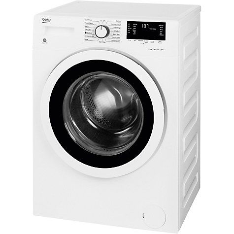 Buy Beko WY74242W Slim Depth Freestanding Washing Machine, 7kg Load, A    Energy Rating, 1400rpm Spin, White Online at johnlewis.com