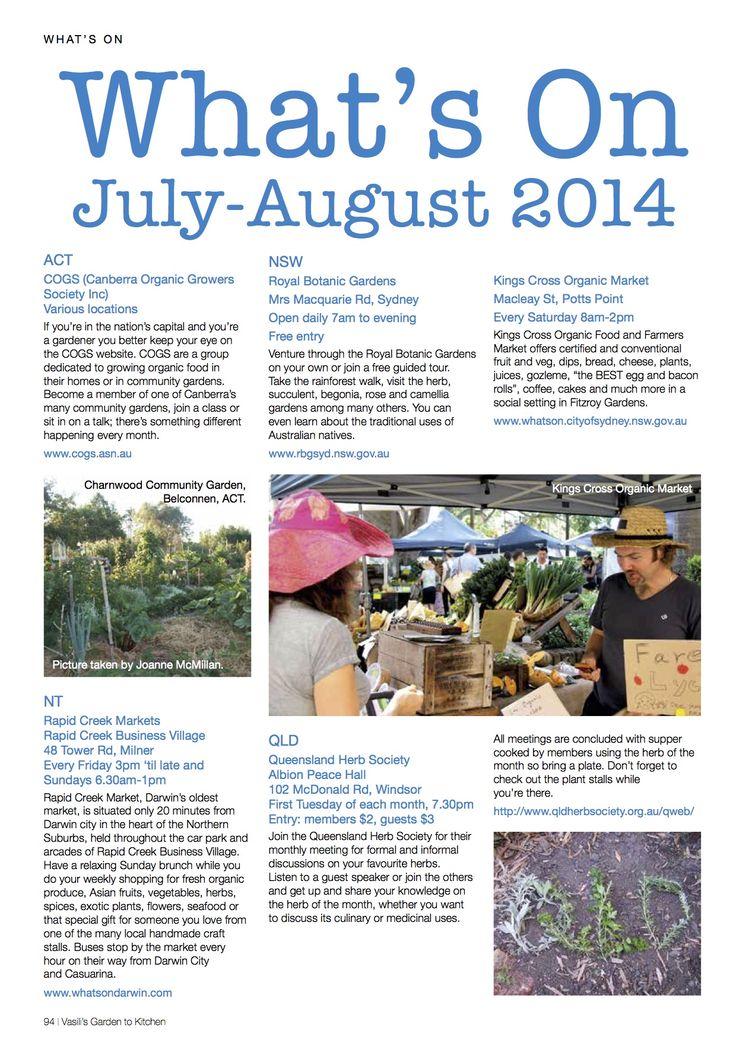 as seen in Vasili's Garden to Kitchen Mag July/Aug 2014