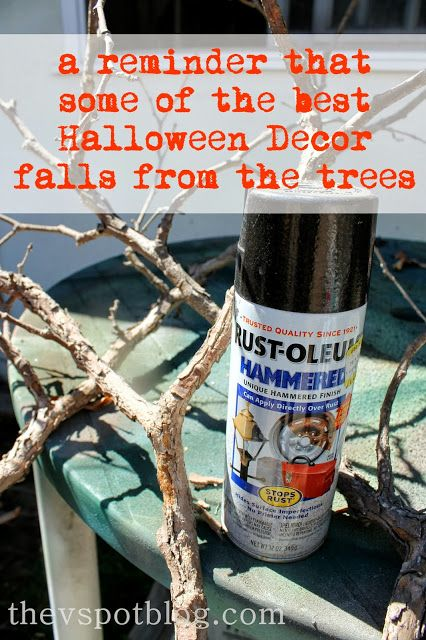 The V Spot: Black paint + everyday objects = Halloween Decor.