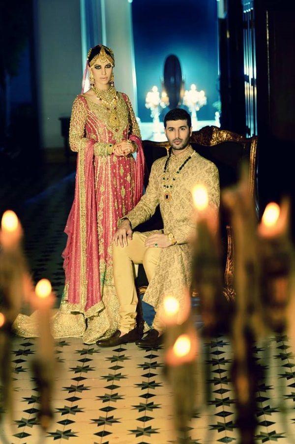 Beautiful Bride Groom Outfits by http://www.FarazManan.com/ Lahore, Pakistan