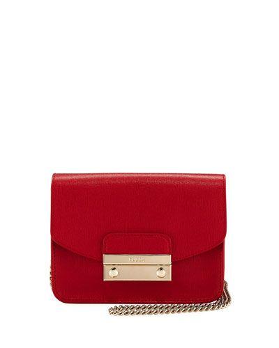 Julia Mini Leather Pochette Crossbody Bag