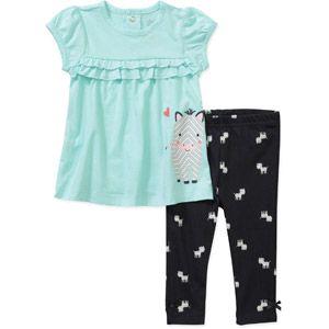 Child of Mine by Carters Newborn Girls' 2 Piece Zebra Tee and Legging Set