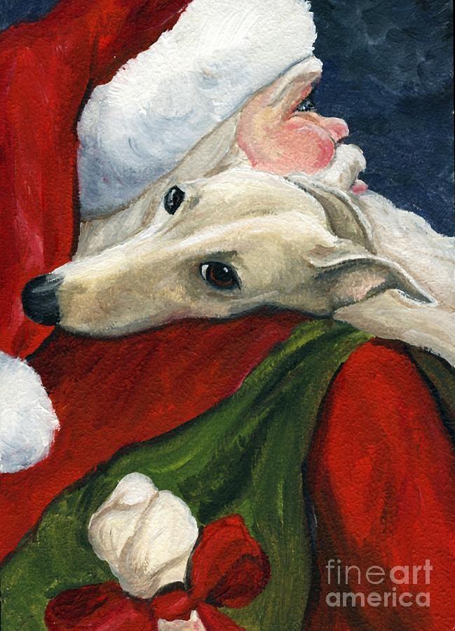 Greyhound And Santa One Of My Greyhound With Santa X