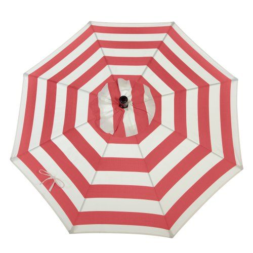 Coral Coast 7.5 ft. Olefin Fashion Wind Resistant Patio Umbrella with Crank and Collar Tilt