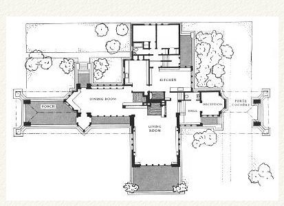 Plan ward w willits house 1901 highland park illinois for Frank lloyd wright prairie house plans