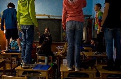 High tech vs no tech, classrooms.