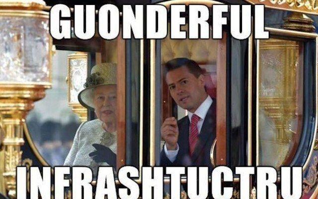 Aun me sigo riendo, aunque ya es historia. Memes de la visita de EPN a Reino Unido.