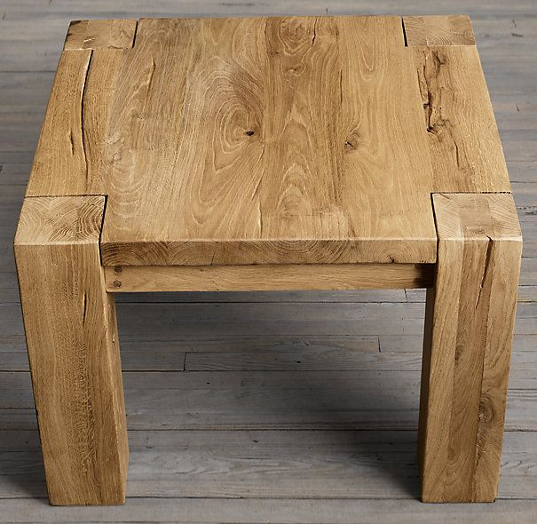 "Restoration Hardware Reclaimed Teak Coffee Table: 25"" Parsons Reclaimed Russian Oak Square Side Table"