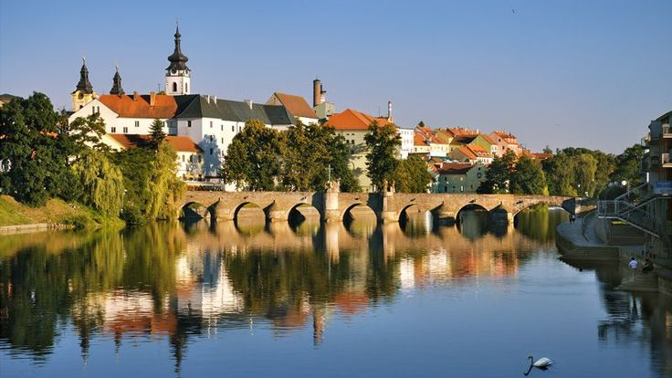Old town of Pisek  / In Písek, cross the oldest bridge in the Czech lands!