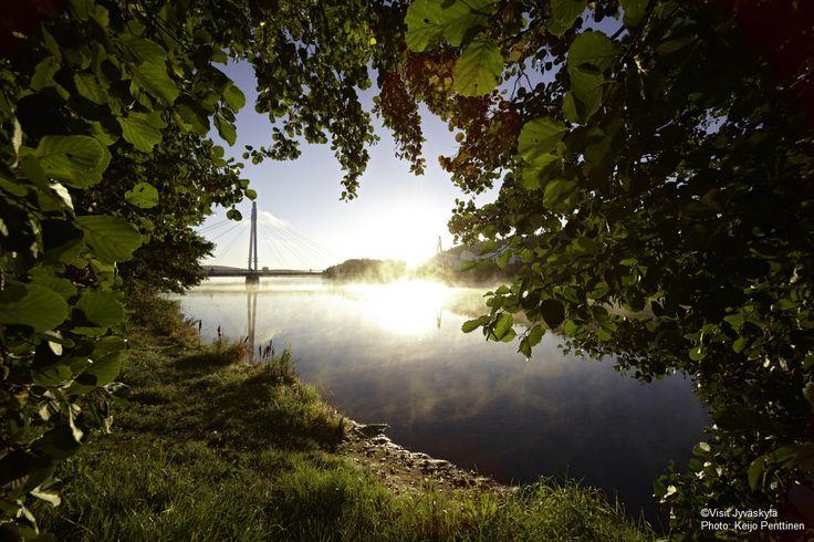 Nature and Ylistö bridge. ©Visit Jyväskylä Photo: Keijo Penttinen.