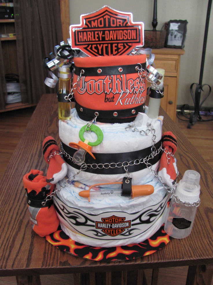 Harley Davidson Diaper Cake I Always Wanted To Make One Of