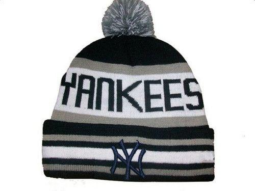 New York Yankees Winter Outdoor Sports Warm Knit Beanie Hat Pom Pom ... 49a429469a9
