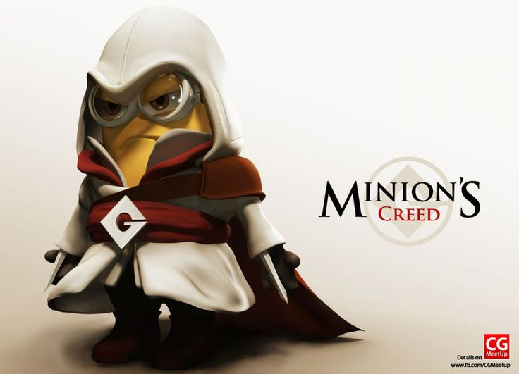 Minion Assasing Creed Logan Olsen (see more on http://www.tranchesdunet.com/galerie-de-minions/ )