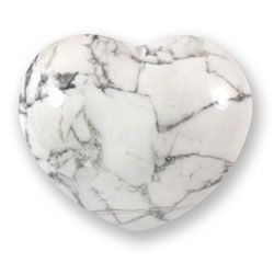 Howlite Crystal Heart - 4.5cm- Buy now at www.crystalage.com