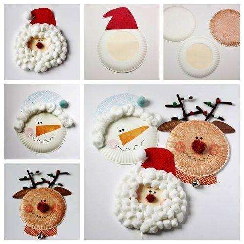 Adornos con platos desechables para navidad - http://decoracion2.com/adornos-con-platos-desechables-para-navidad/67913/?utm_source=smdeco2&utm_medium=socialclic&utm_campaign=67913 #Decoración, #Ideas_Para_Decorar, #Manualidades, #Navidad