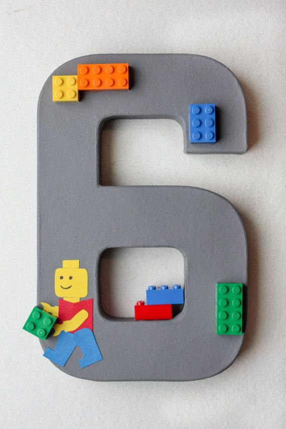 LEGO Party Decoration  LEGO Birthday Number or by LittleABCs