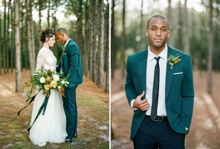 Glam + Moody Holiday Wedding Inspiration in the Woods