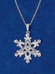 Yule - Snowflake and Trinity Knot Pendant