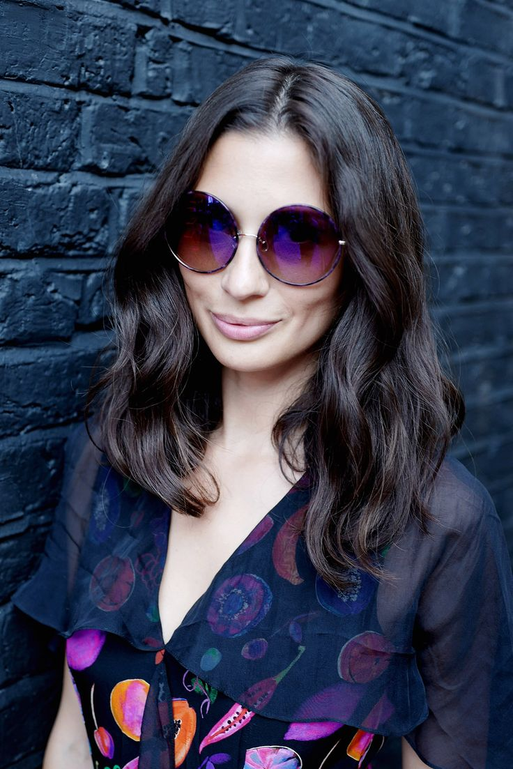Jasmine Hemsley, co-author of The Art of Eating Well, wore the Matthew Williamson We Liming ruffle gown and new season round sunglasses for our tea party last week at Blakes Hotel #ohMW