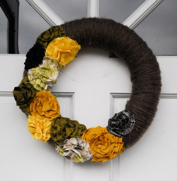 wreath by Foster Kade Designs on etsy: Holiday, Orange
