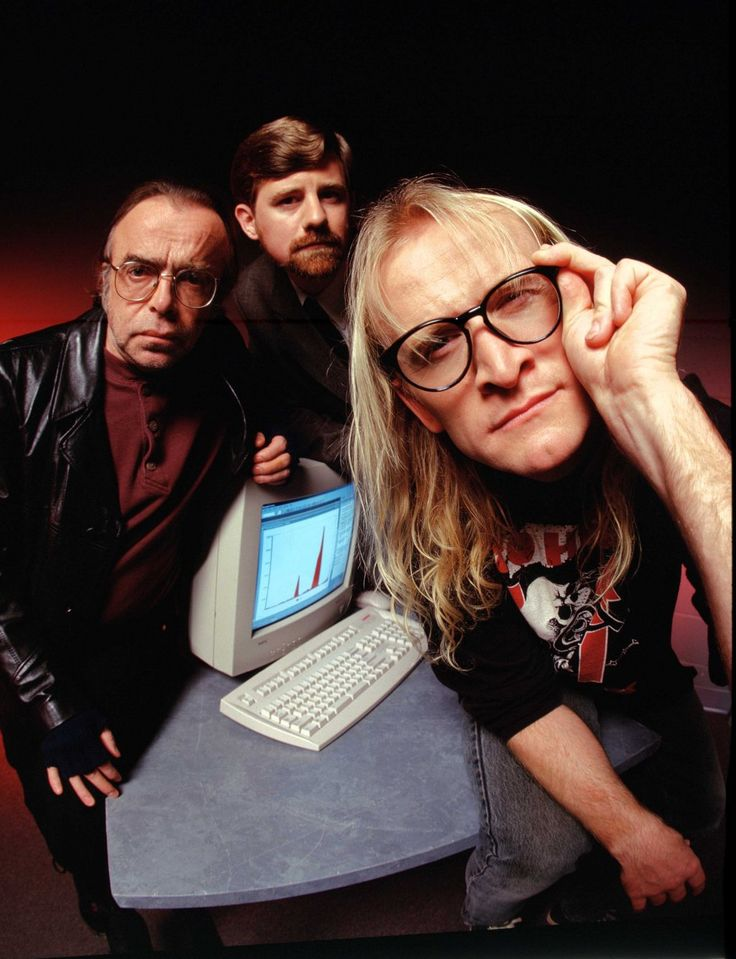 """X Files, The Lone Gunmen. Richard """"Ringo"""" Langly, Melvin Frohike and John Fitzgerald Byers"""