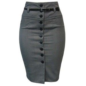 pencil skirt with buttons down the front - Google Search