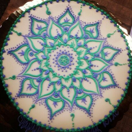 mandala cake my art pinterest mandalas cakes and