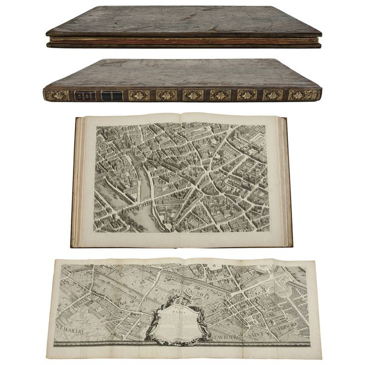 Plan de Paris (Plan of Paris), Turgot, 1739 | From a unique collection of antique and modern books at https://www.1stdibs.com/furniture/more-furniture-collectibles/books/