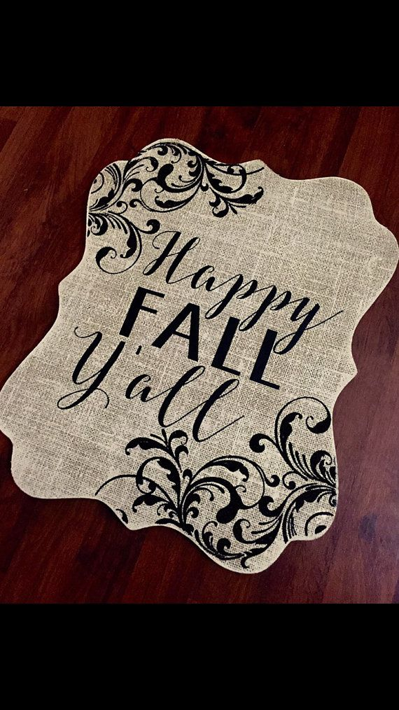 Happy Fall Yall Decorative Sign Fall Decoration by SimplySoltysi