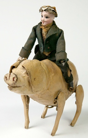 Clockwork pig with rider