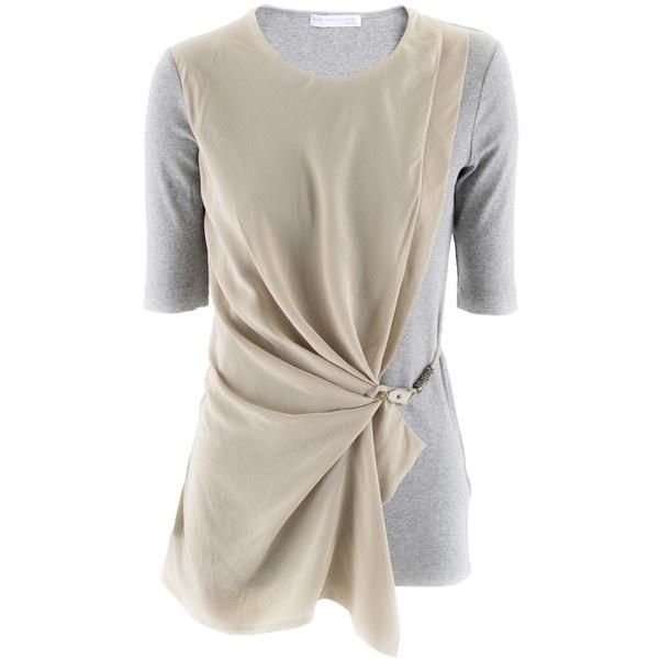 Fabiana Filippi Silver Sand Shirt Perla ($485) ❤ liked on Polyvore