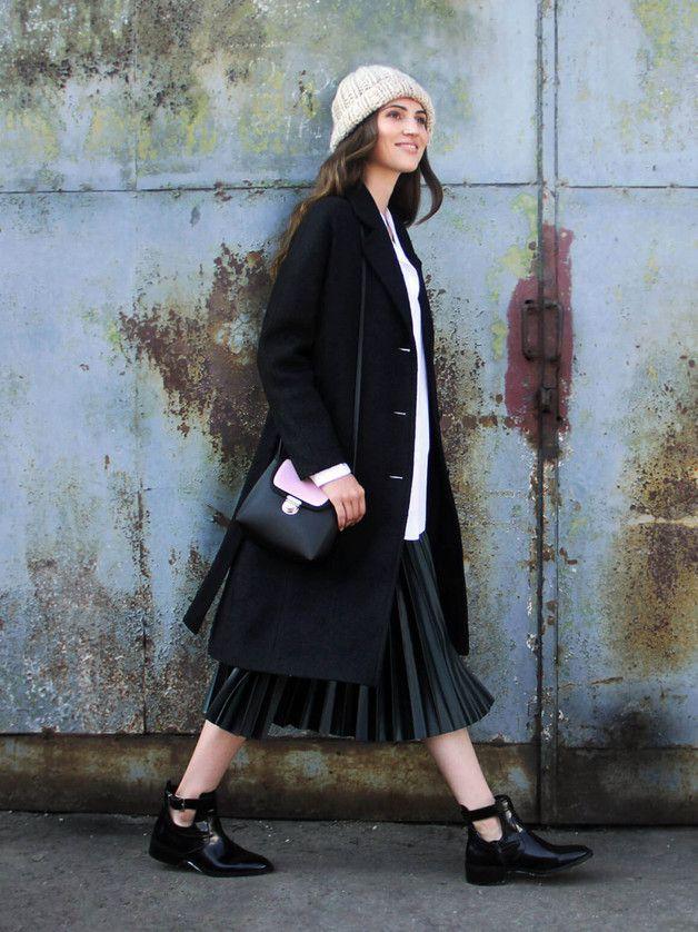 Maria – zimowy płaszczyk z rewersem - Talia-Fashion - Płaszcze