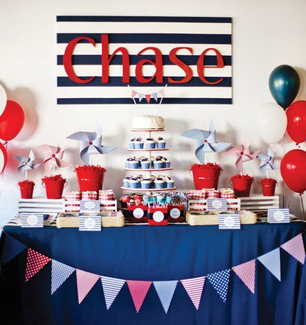 Yummy stylish desert tables with all tones of blue and red brighten up the occasion of the celebration of welcoming a baby. Pails, ropes, cups, buckets, sand, anchors, starfish, shells and much more decor could spice up this little corner.  Find out more ideas and be inspired by the themes here. Find the best places in Singapore that could accommodate such a theme party.